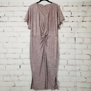 NWOT Bar III Dolman Sleeve Draped Front Dress